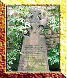 peter holmes' gravestone. 1834-1907