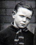 Victor as a 5 year old school boy at cromwell road swinton 1930